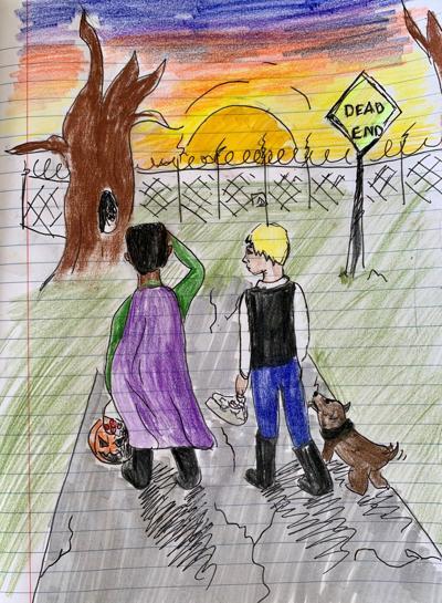 Halloween tale artwork - Morgan Cardille