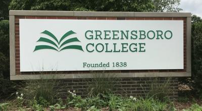 Greensboro College sign 2018