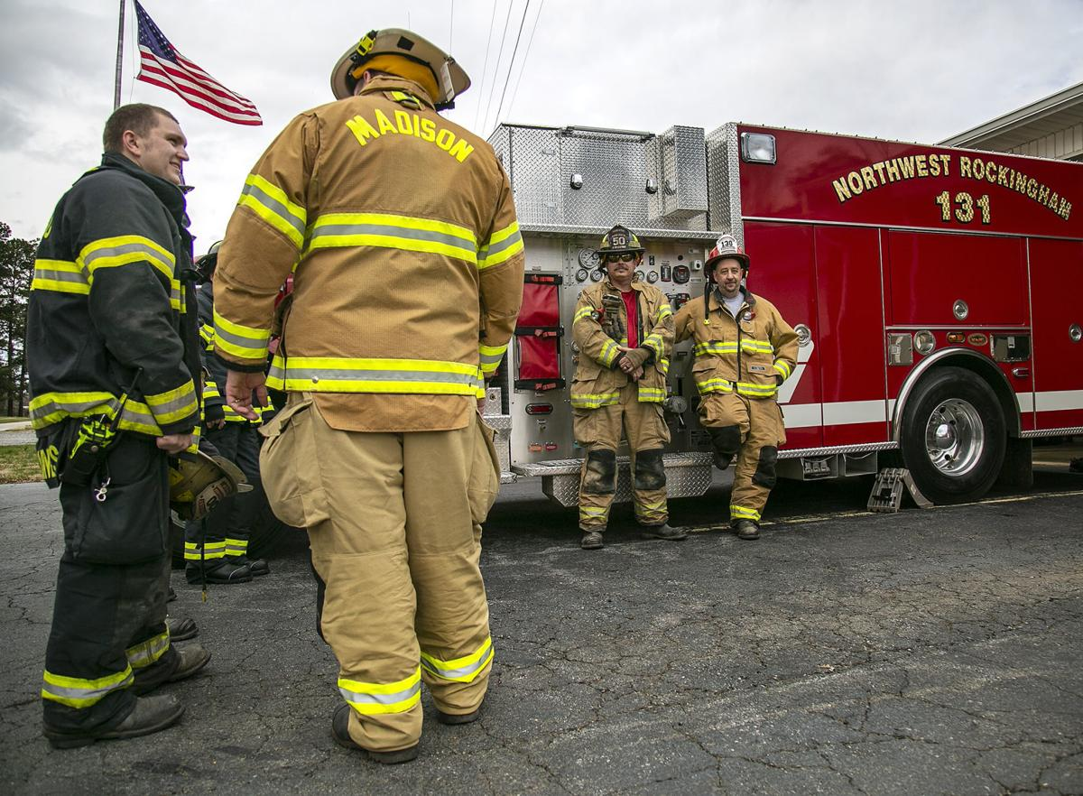 Rockingham County volunteer firefighters