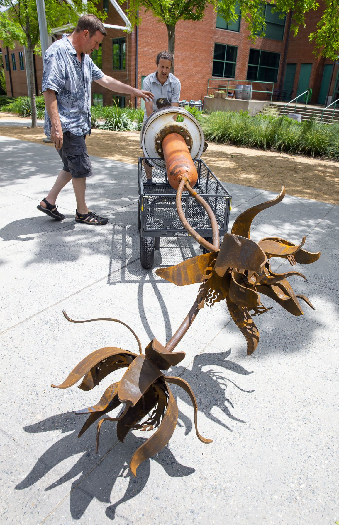 LeBauer Park outdoor sculptures