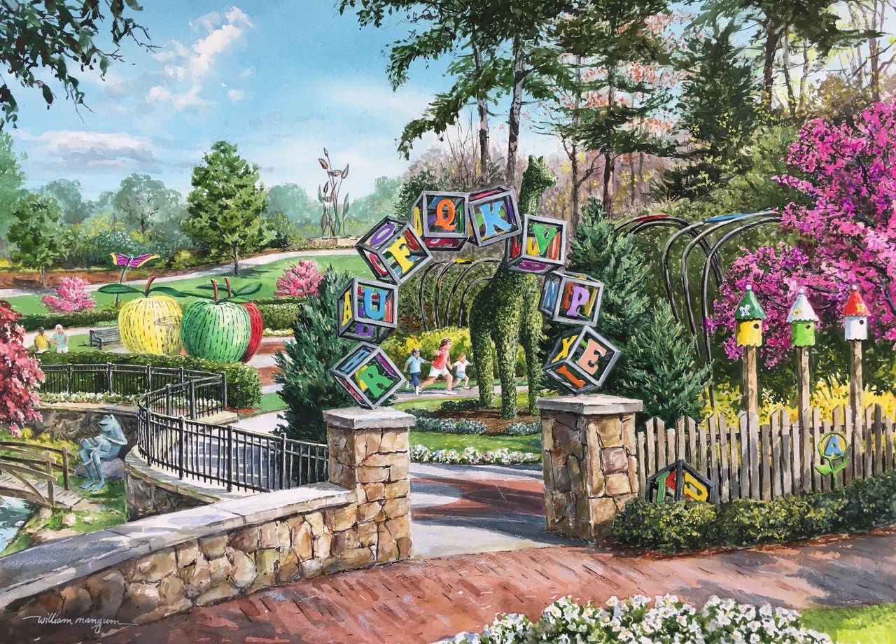 Gateway Gardens Painting By William Mangum
