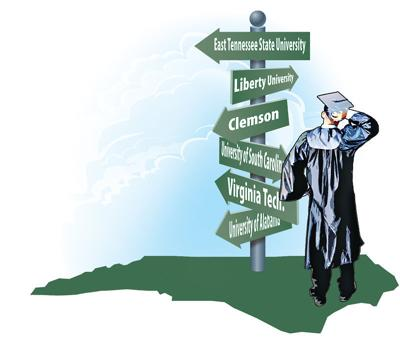 Colleges In Nc >> All Over The Map More N C Students Are Choosing Out Of