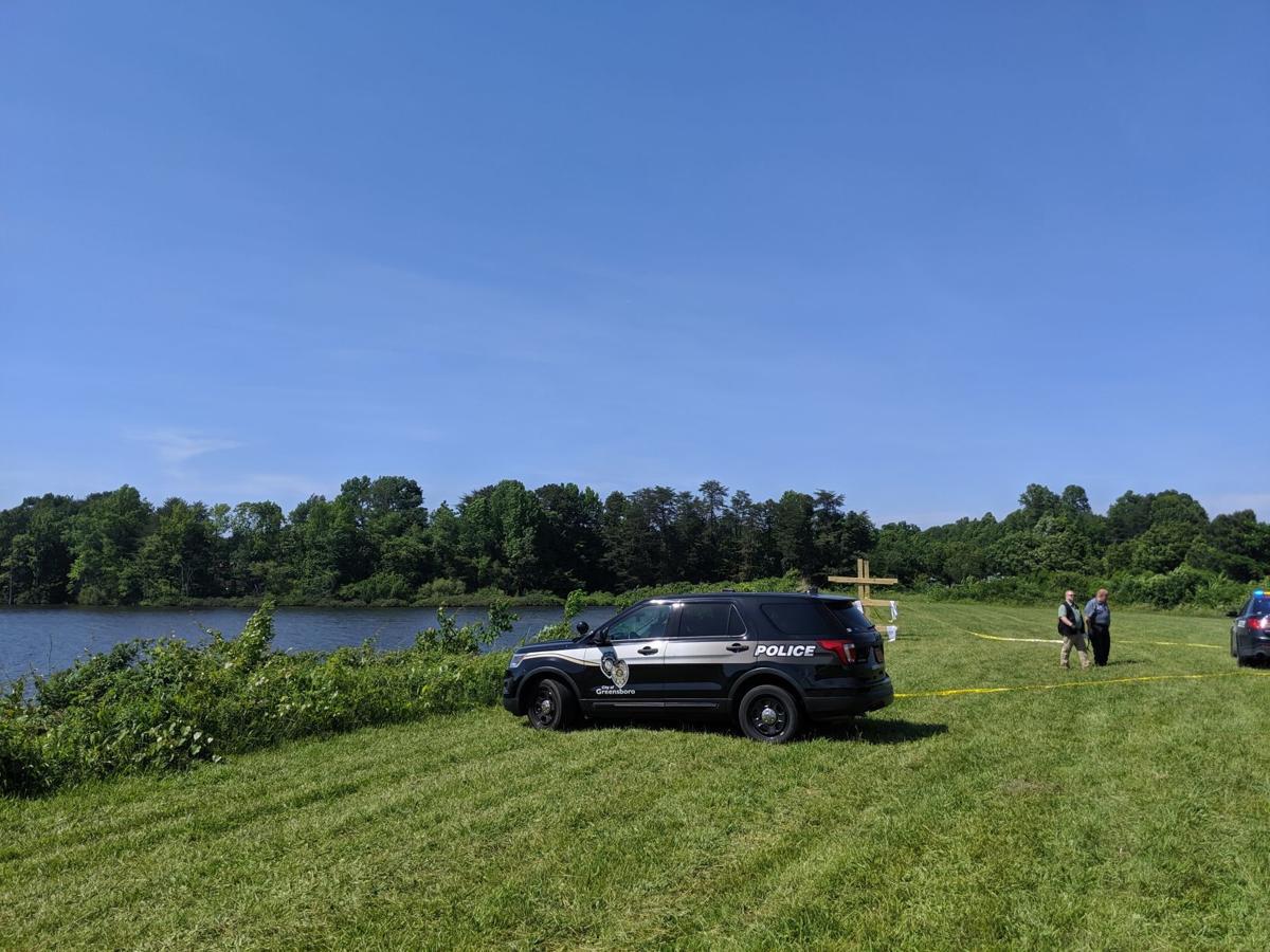 Police vehicle at Buffalo Lake Friday
