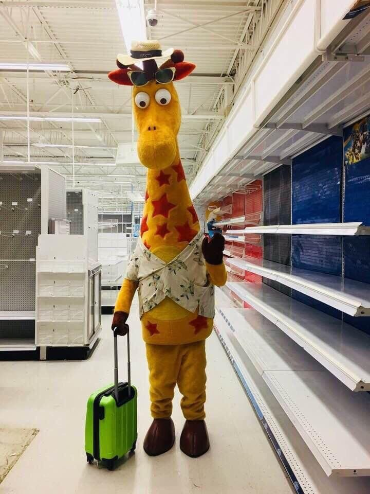 Image result for geoffrey the giraffe with suitcase