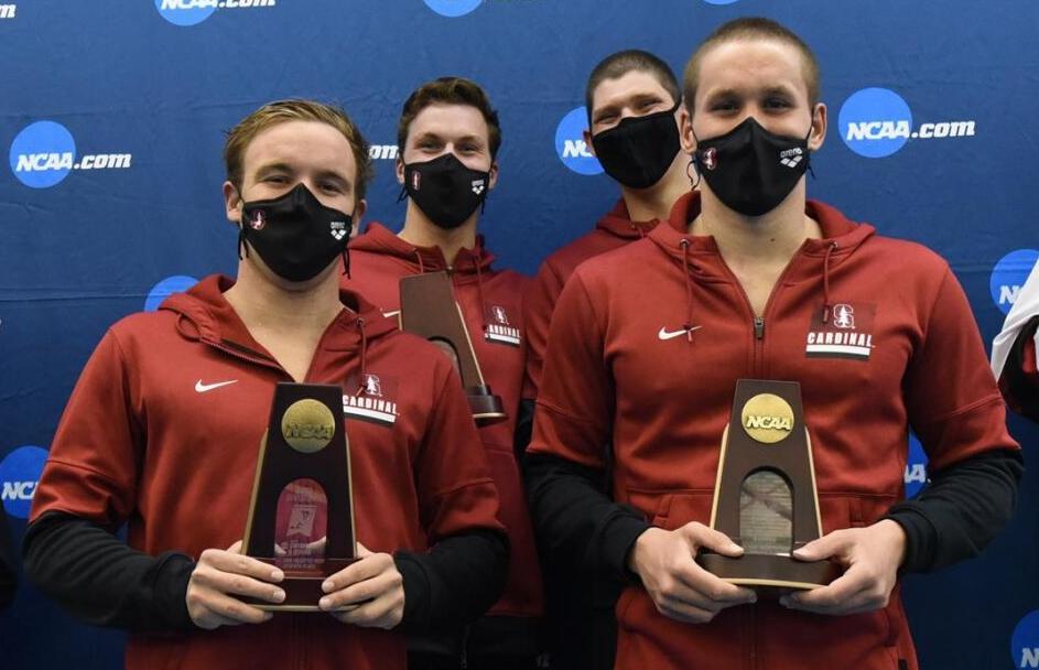 Preston Forst Stanford swimmers