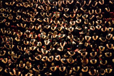 College commencement graduates from above generic