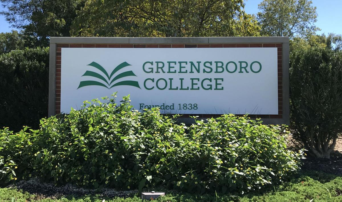 Greensboro College sign