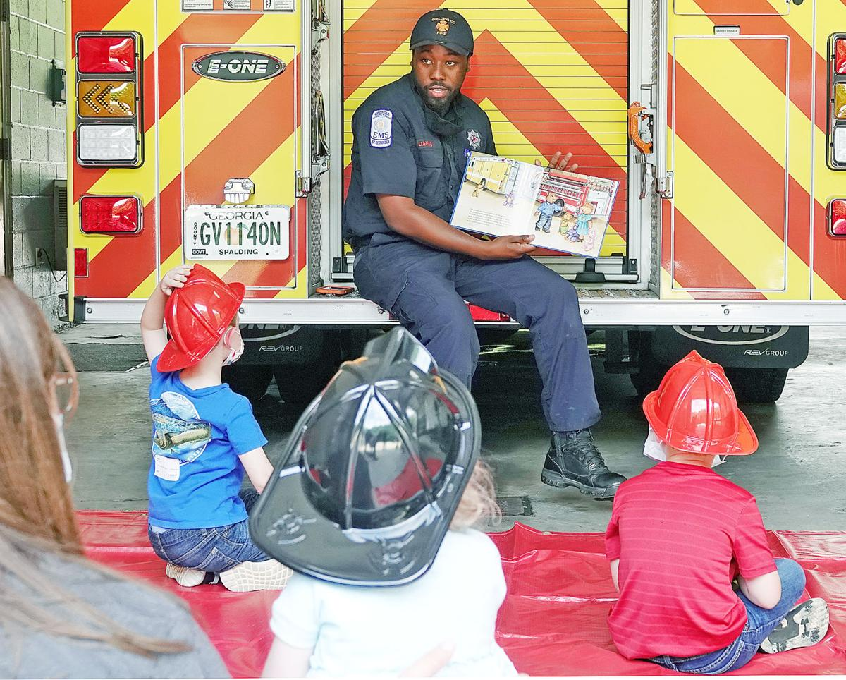Storytime at the Fire Department