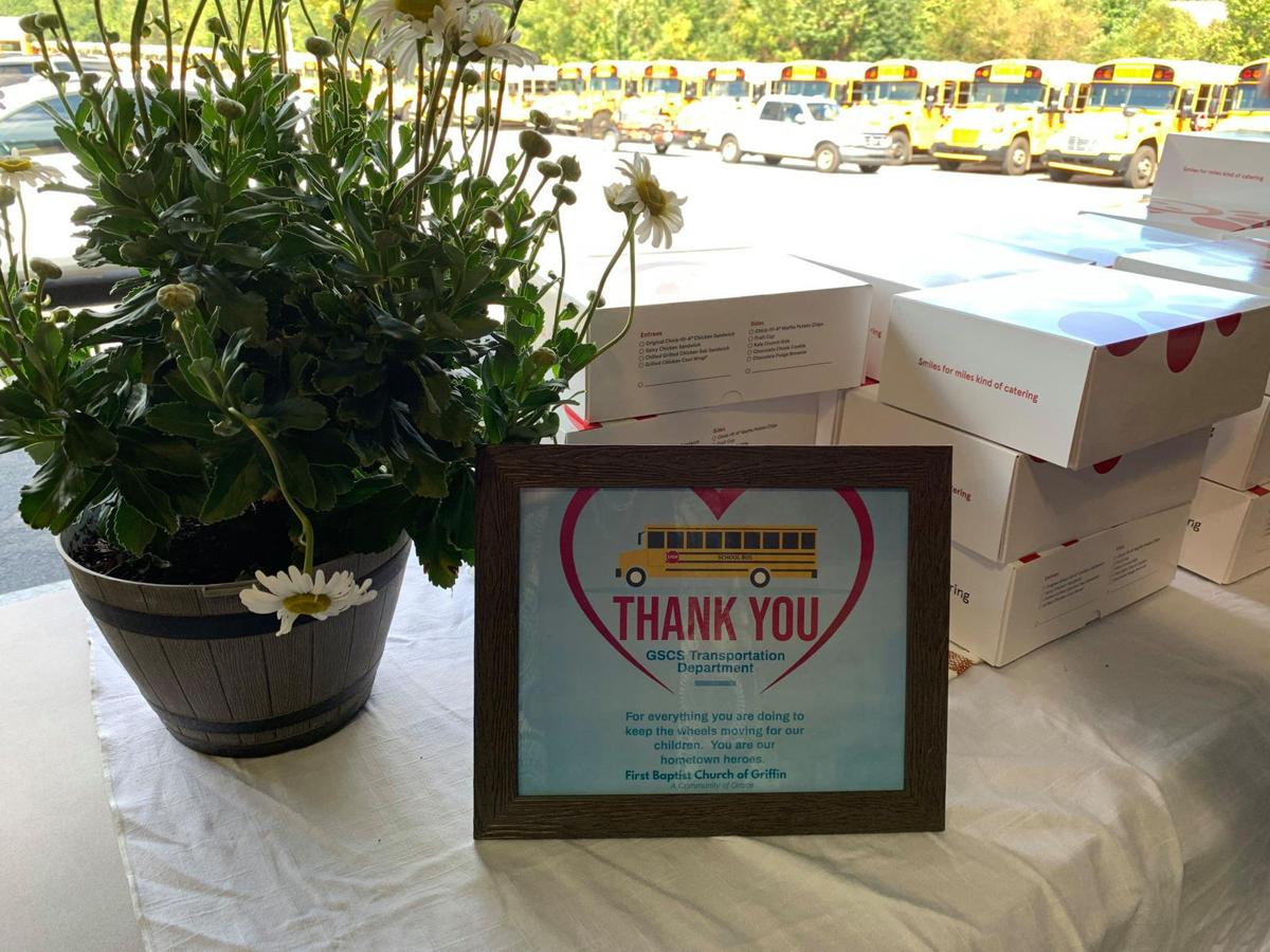 First Baptist shows appreciation for bus drivers