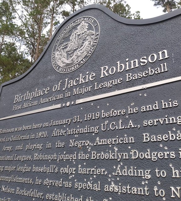 Jackie Robinson historical marker vandalized in south Georgia