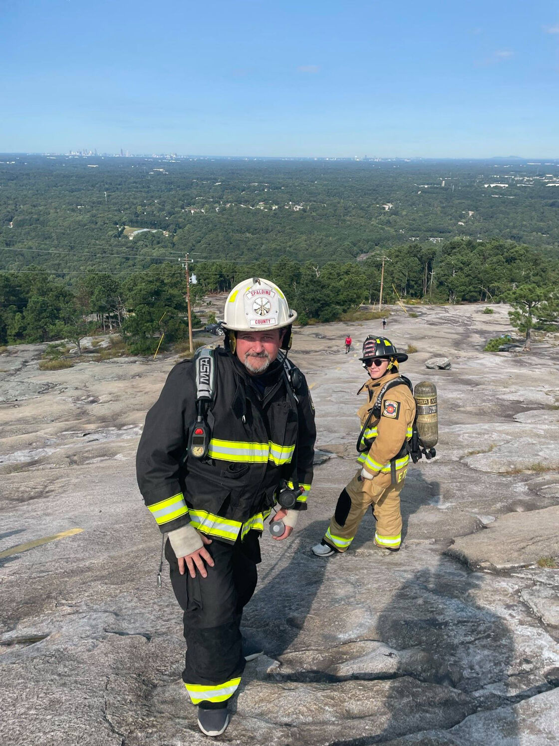Firefighters climb Stone Mountain to commemorate 9/11