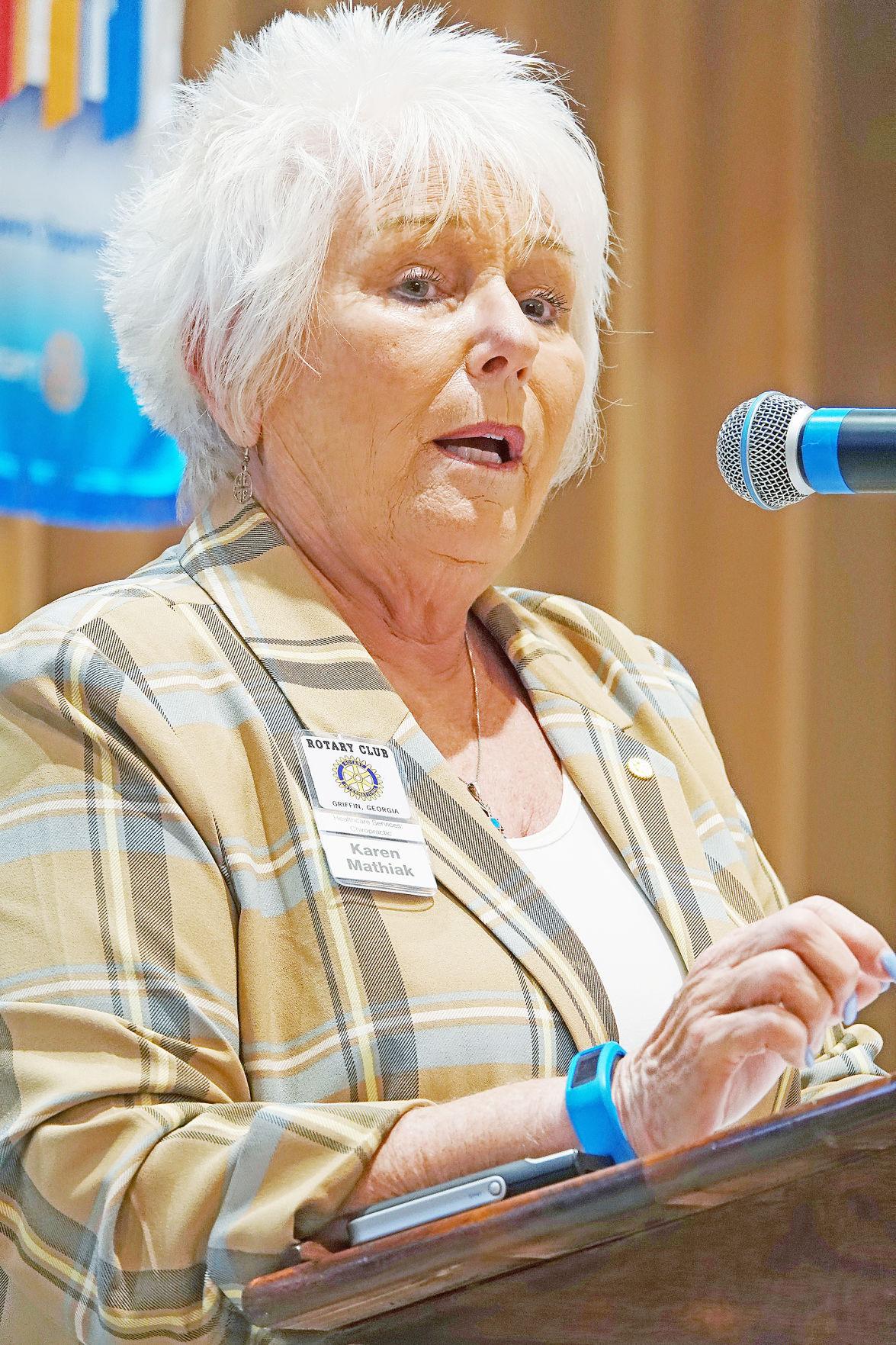 Knight, Mathiak speak at Rotary
