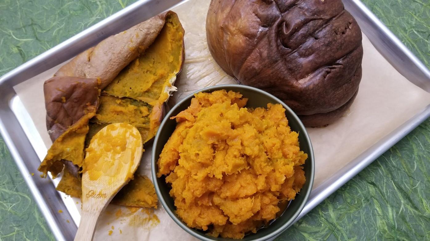 Fresh pumpkin for boñelos kalamasa
