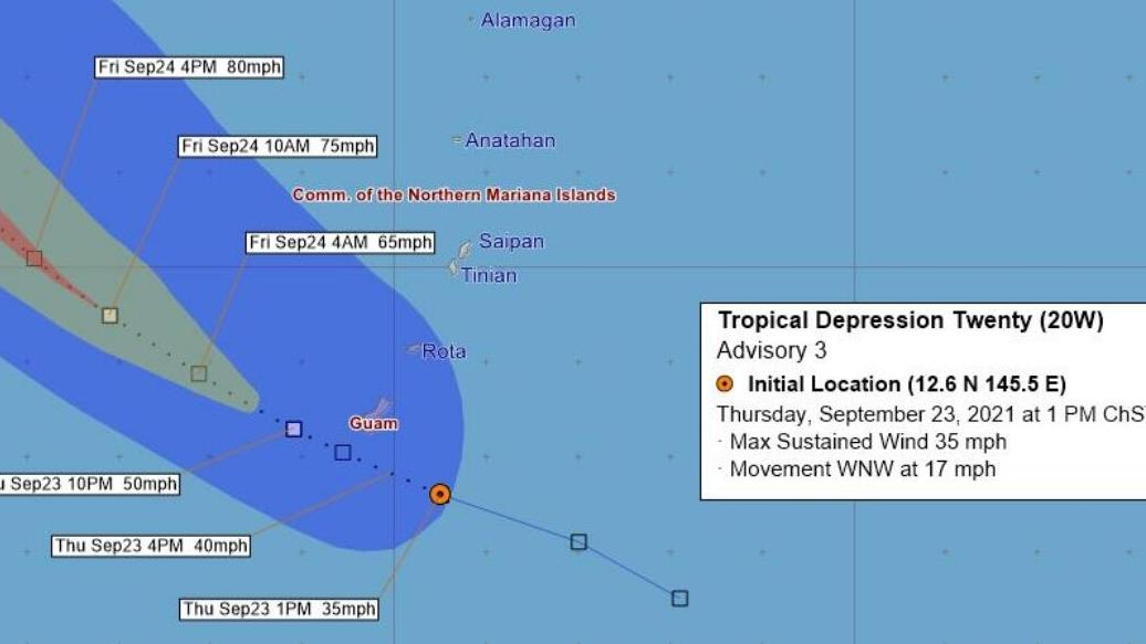 6 p.m.: Storm making closest point of approach now