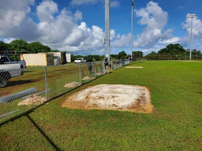 Okkodo baseball field fencing