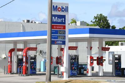 Mobil Gas Down