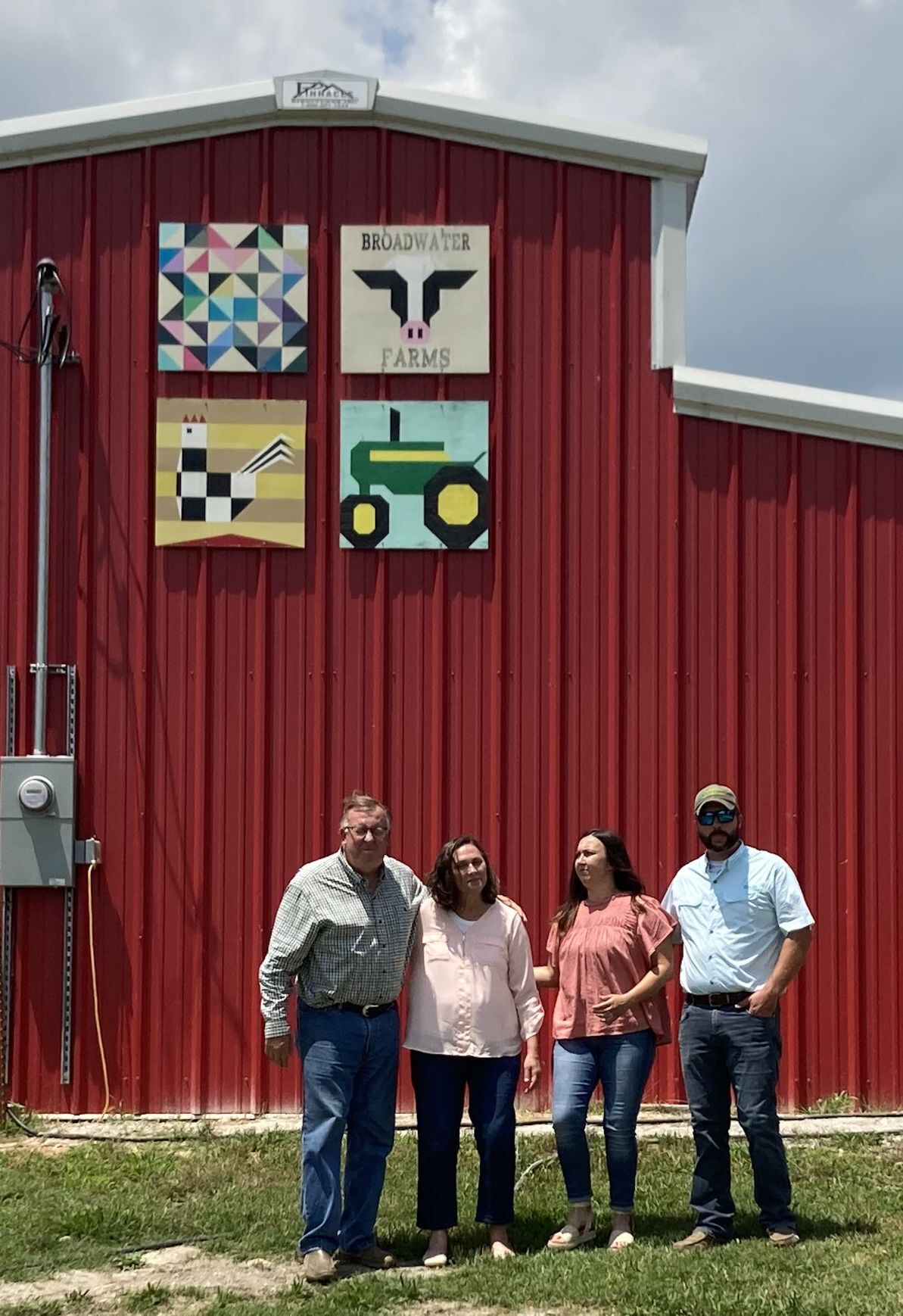 Farm Family Barn Photo