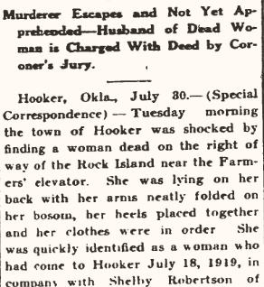 1920 Murder