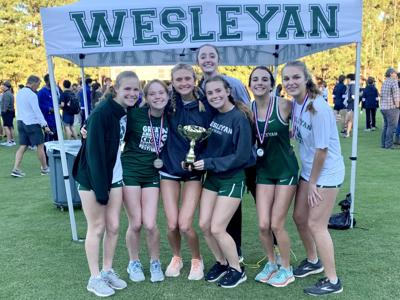 Wesleyan girls cross country team wins Region 5-A Private title