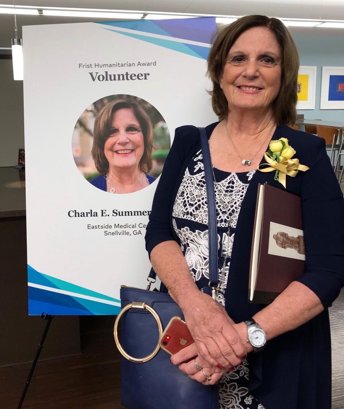Pictured 1 Charla Summers National HCA Healthcare Frist Award Winner_Volunteer.jpg