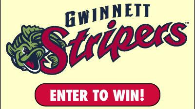 A chance to win 4 tickets to the 8/4 Gwinnett Stripers game!