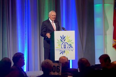 Gov. Nathan Deal hails Gwinnett's water treatment during environmental address