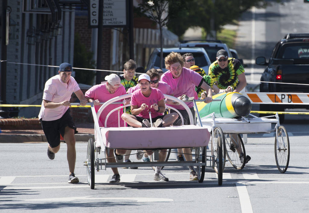 Family Promise holds bed race to fight homelessness