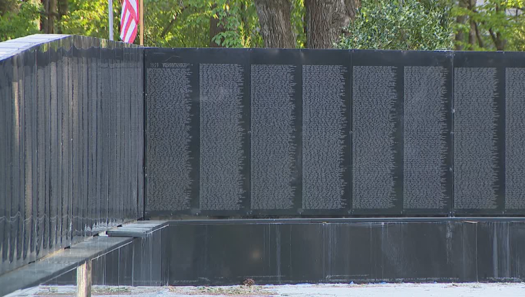 Johns Creek Vietnam Veterans Memorial Vandalized News Gwinnettdailypost Com