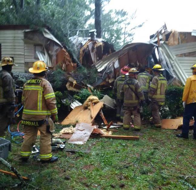 Tree Pins Man Inside Mobile Home In Loganville