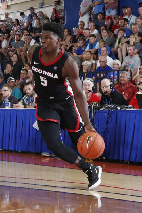 Georgia's freshman guard, Anthony Edwards struggled in his team's loss to Dayton at the Maui Invitational.  (Photo: Brian Spurlock/USA Today Sports via Gwinnett Daily Post.)