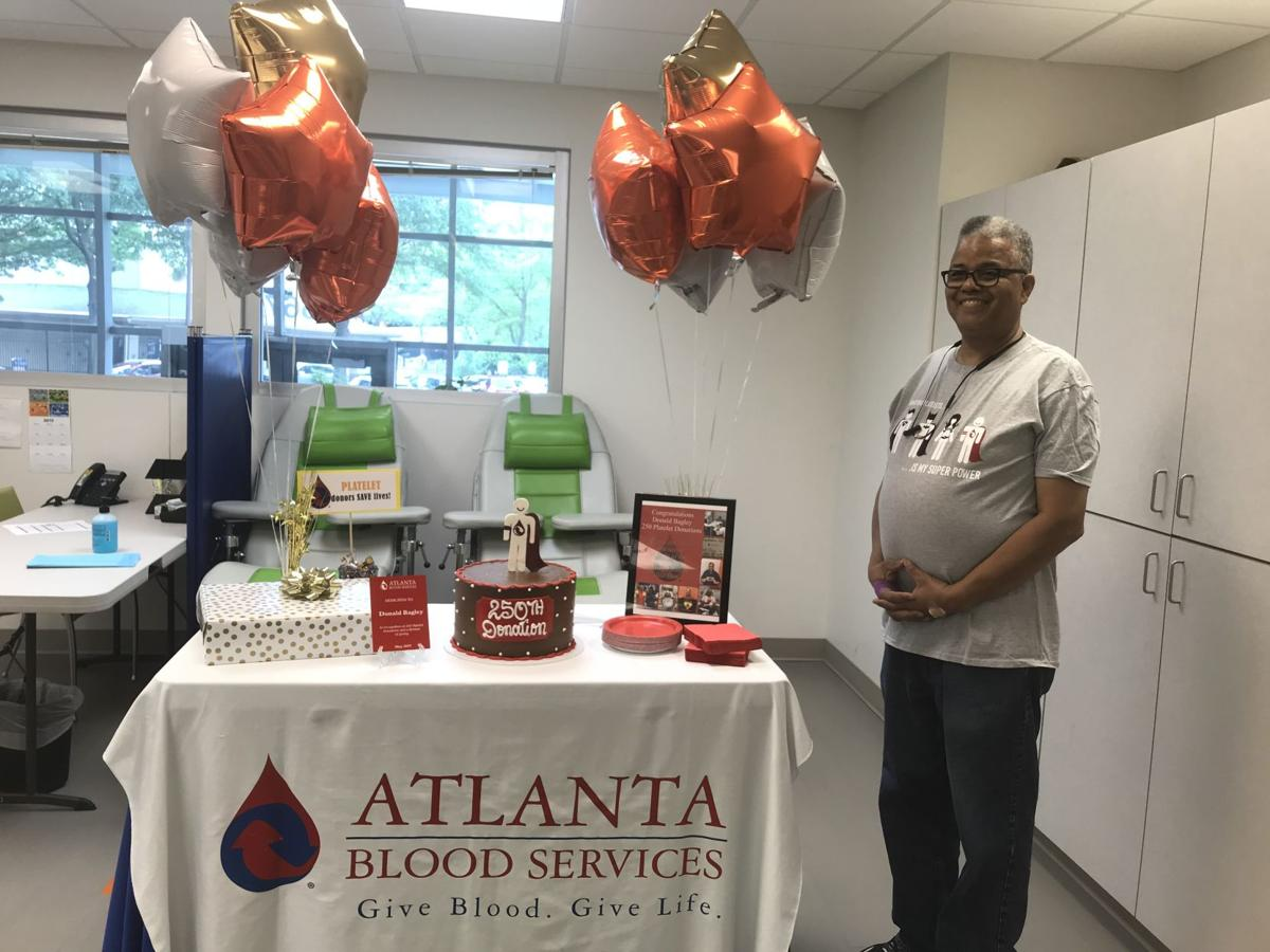 Lawrenceville man donates platelets 260 times