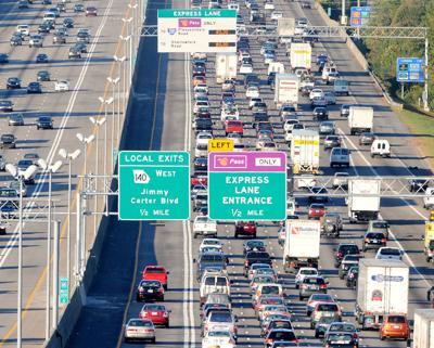 I-85 express lanes file photo