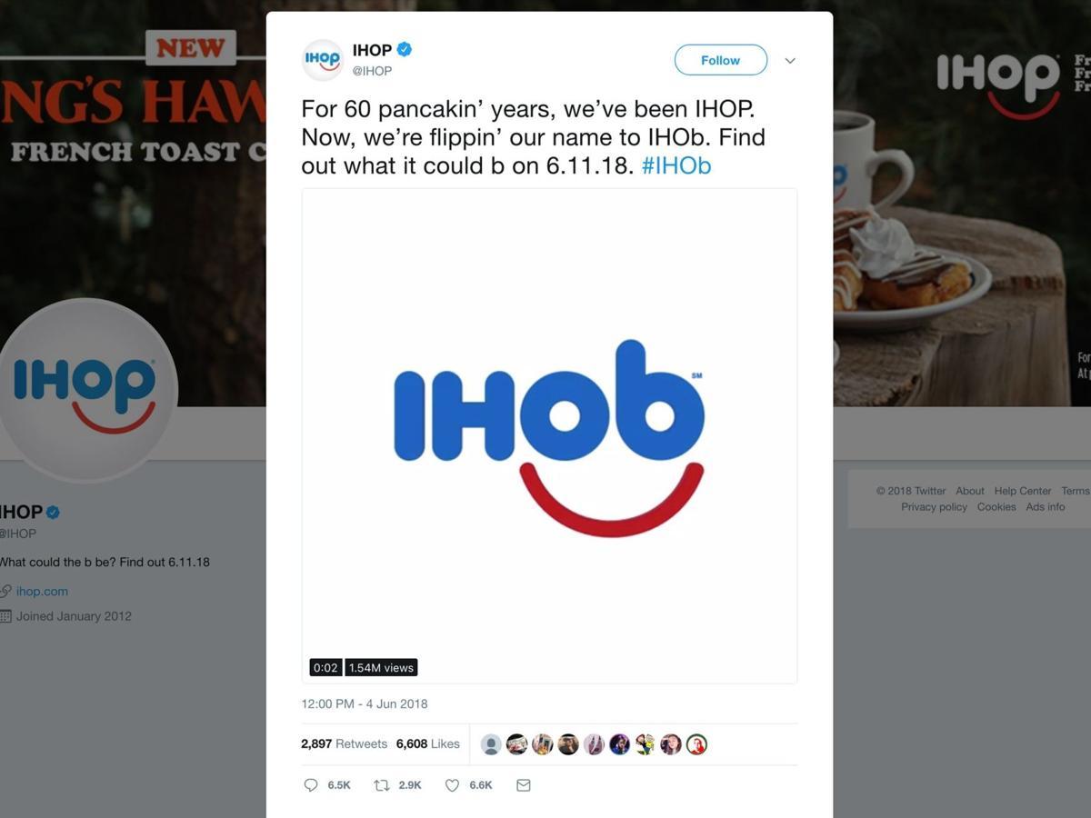 IHOP says it\'s changing name to IHOb. Huh?   News ...