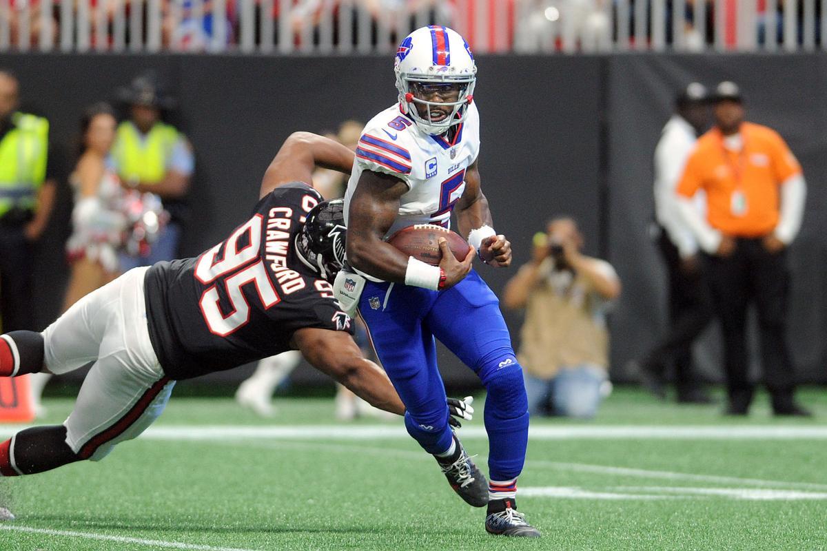 4aec54ddd ... Buffalo Bills defense too much for Atlanta Falcons Sports  gwinnettdailypost.com Nike Dion Dawkins Elite Green Mens Jersey - NFL ...