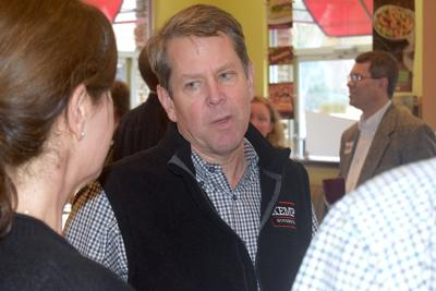 Secretary of State Brian Kemp brings campaign for governor to Peachtree Corners