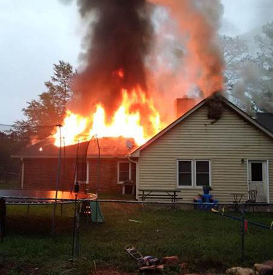 Lightning Strike Sparks House Fire During Evening Storms