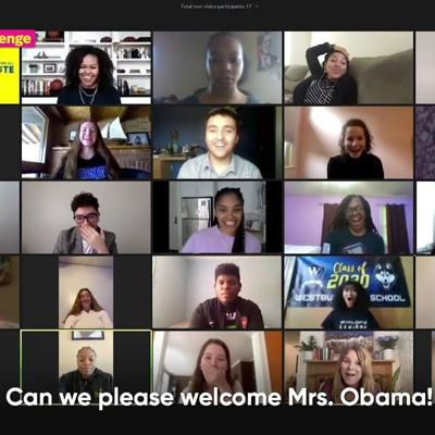 Michelle Obama Surprises 2020 Prom Challenge Winners