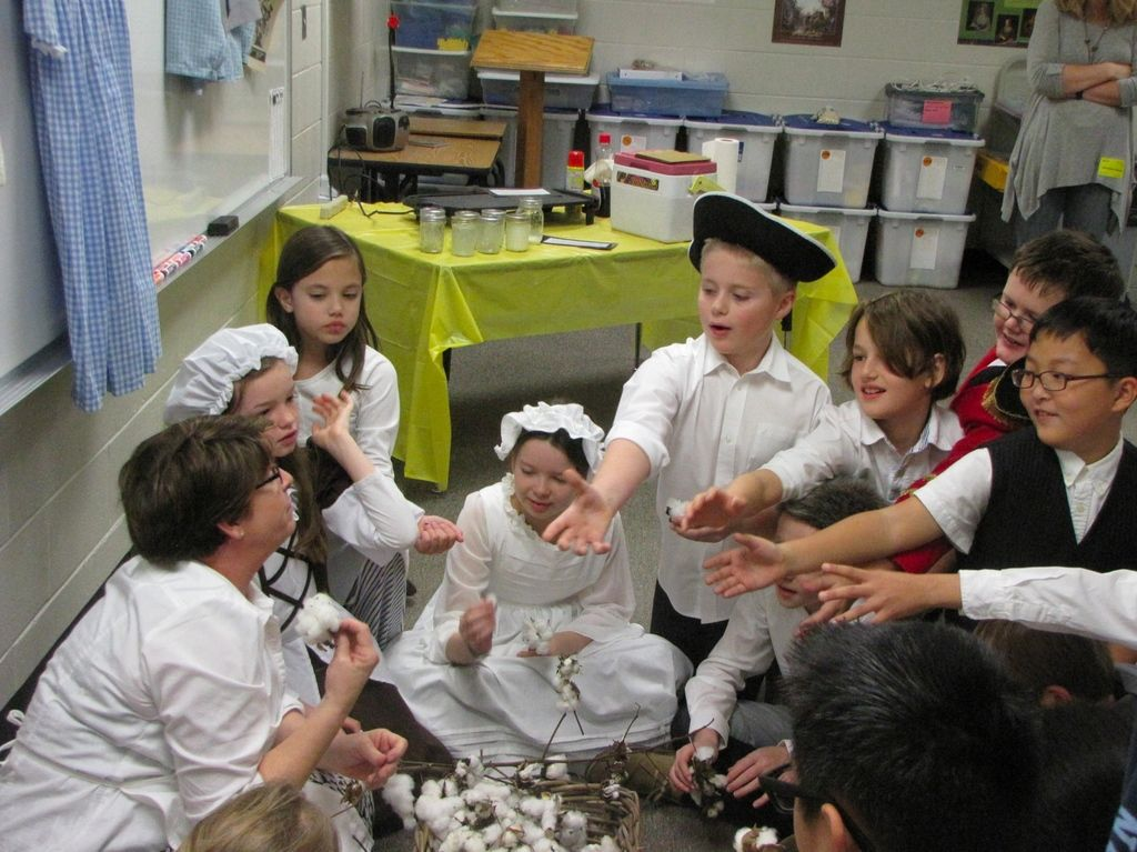 Riverside fourth-graders act out colonial days