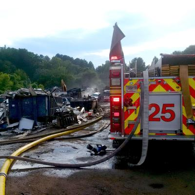 Hazmat unit called in after cars burn at recycling center in Lilburn
