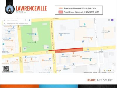 Downtown Lawrenceville closures map.jpg