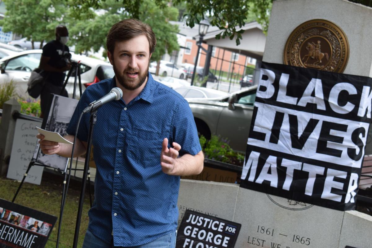 Confederate Monument protest Aaron Ragans