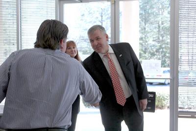 U.S. Rep. Rob Woodall visit Lawrenceville-based apparel company
