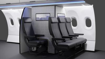 Airbus designs inflight Covid quarantine tent