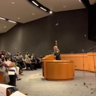 Gwinnett Sheriff Keybo Taylor addresses supporters at swearing in ceremony