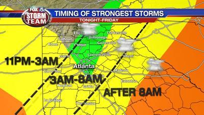 Storms heading toward Gwinnett, metro Atlanta