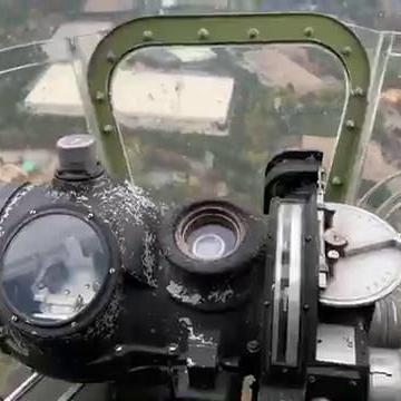RAW VIDEO: A view of Gwinnett from the nose of a World War II-era B-17G bomber