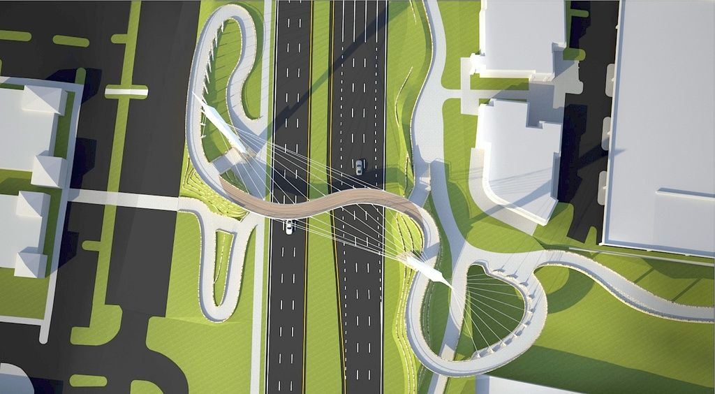 marvelous peach tree designs #3: Peachtree Corners unveils dramatic design for new pedestrian bridge