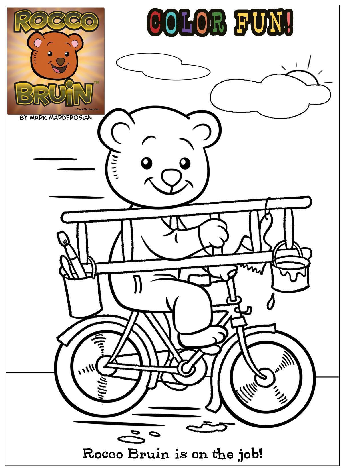 Coloring with Rocco Bruin - On the Job