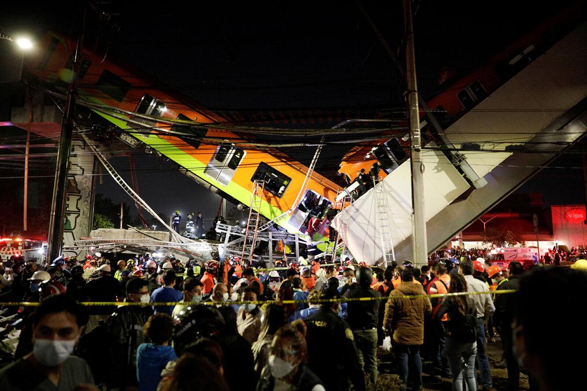Mexico City subway overpass collapses, killing at least 24 and injuring dozens