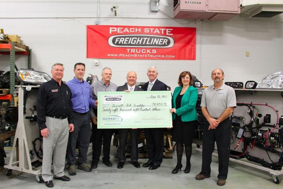 Peach State Freightliner >> Peach State Freightliner Gives 78 800 To Gwinnett Tech